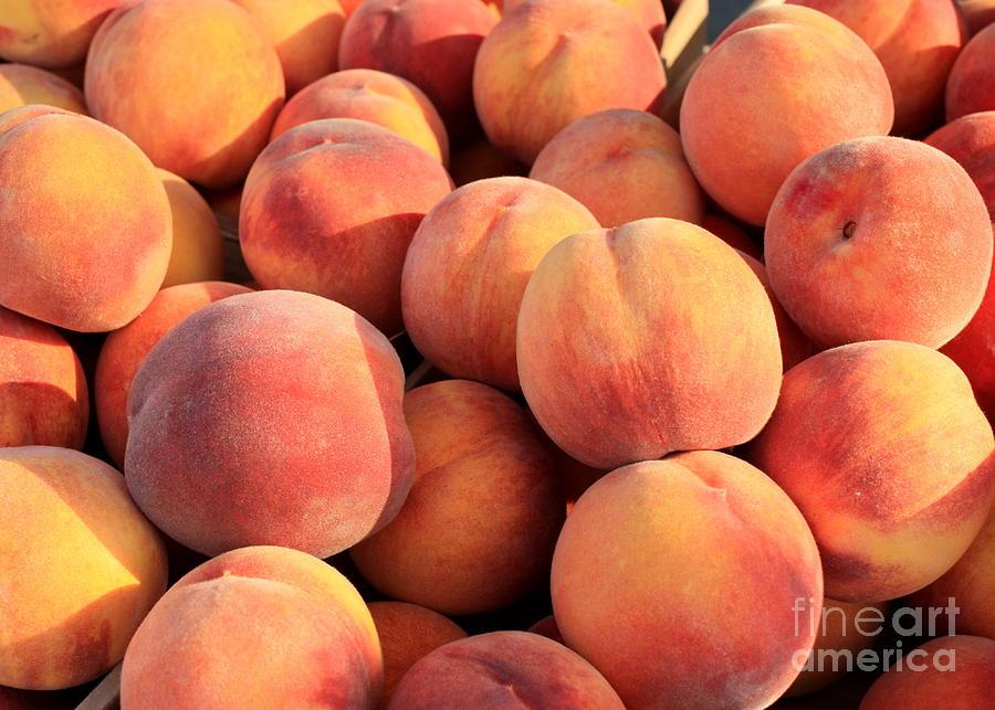 Peaches Photograph - Tasty Peaches by Carol Groenen