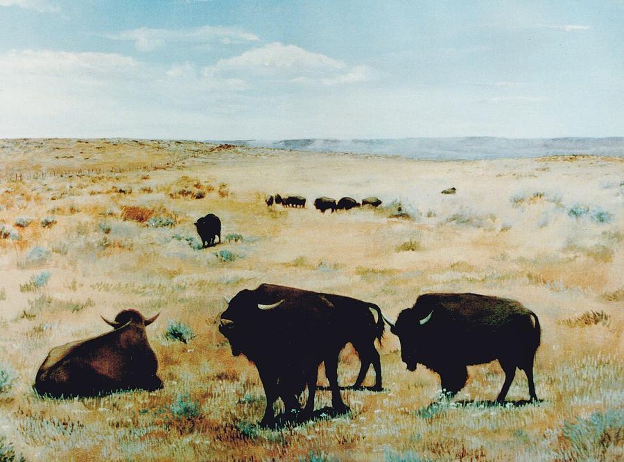 Buffalo Painting - Tatanka by Terri Ana Stokes