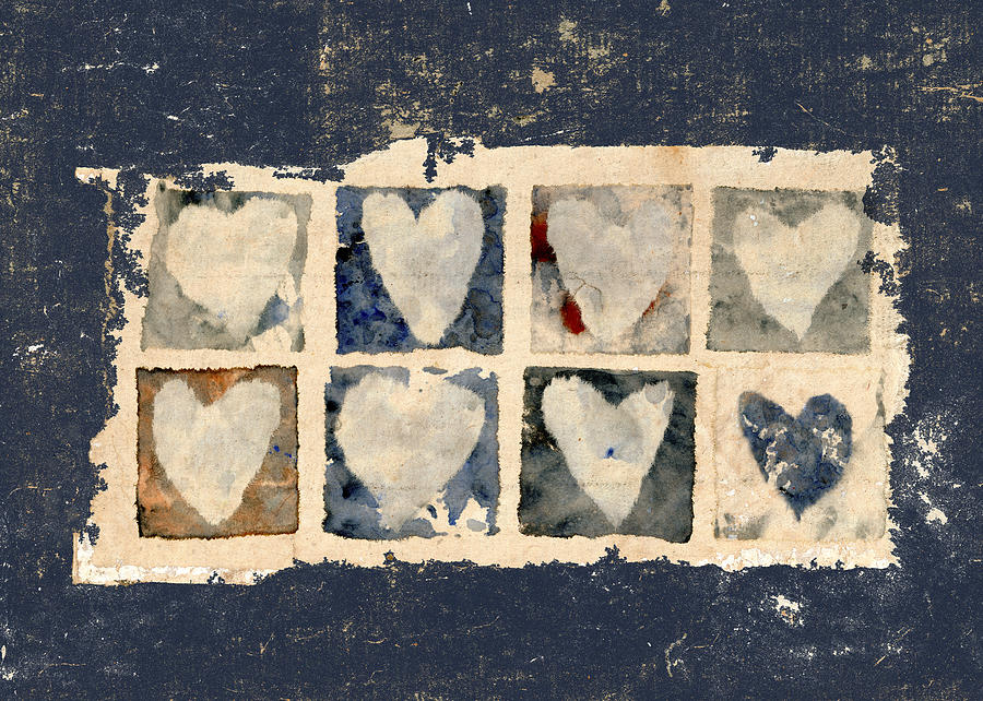 Eight Photograph - Tattered Hearts by Carol Leigh