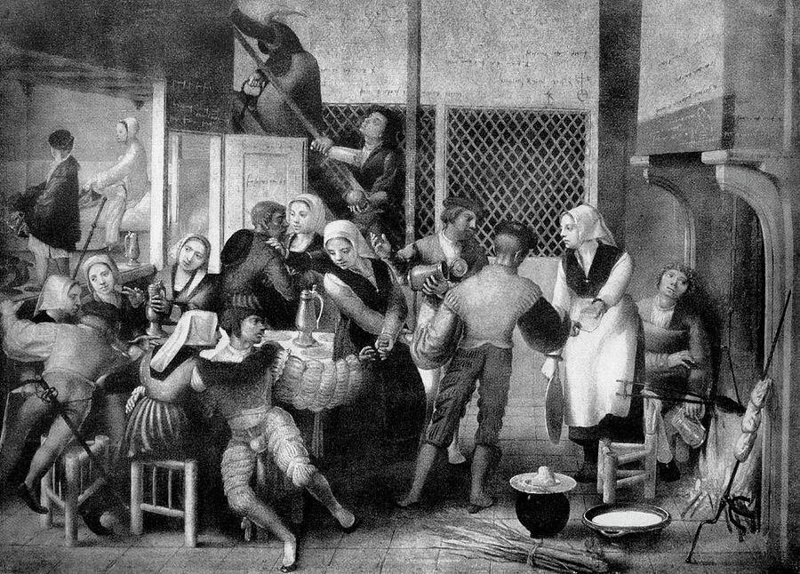 Human Photograph - Tavern Scene by Bildagentur-online/th Foto/science Photo Library