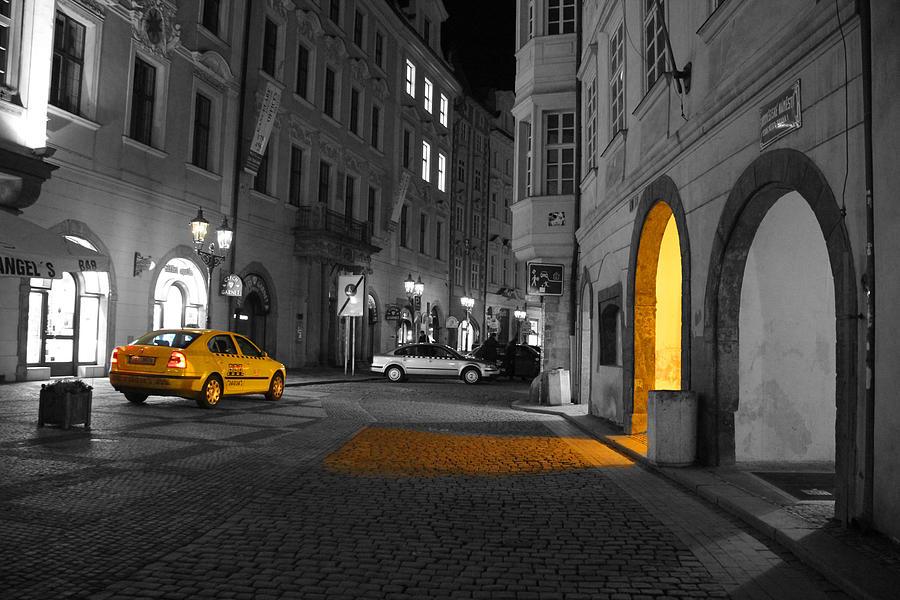 Transport Digital Art - Taxi by Brendan Quinn