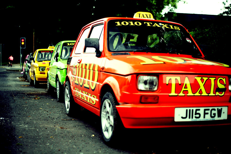 Taxi Photograph - Taxi Line by Anthony Bean