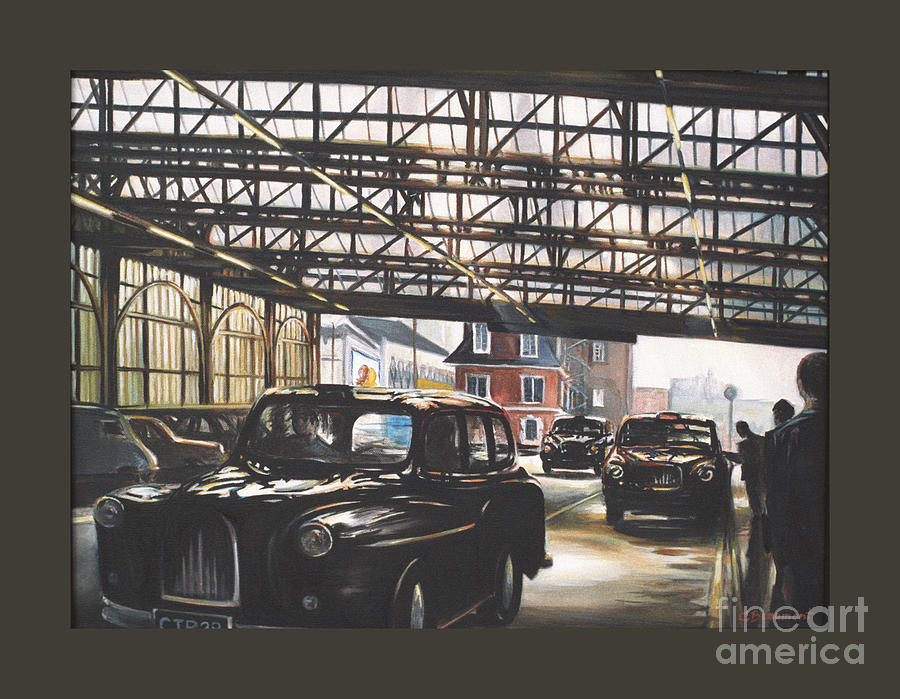 Taxi Painting - Taxi-waterloo. by Caroline Beaumont