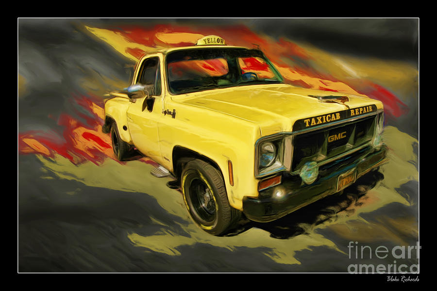 Trucks Photograph - Taxicab Repair 1974 Gmc by Blake Richards
