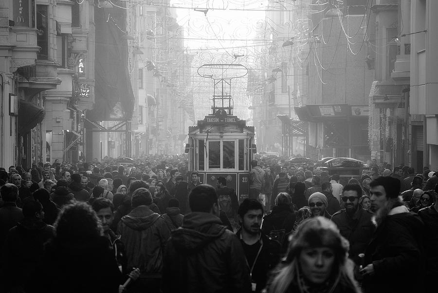 Crowd Photograph - Taxim Street by Dr. Akira Takaue