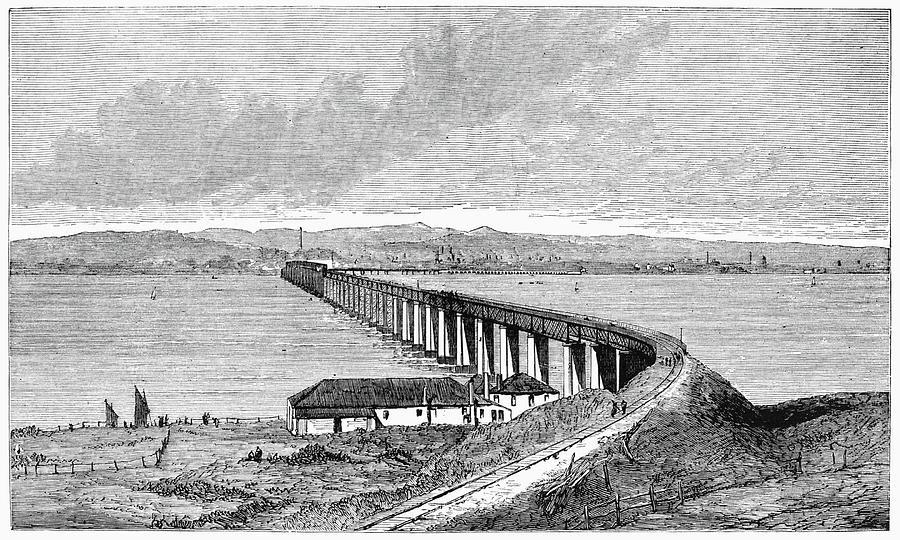 1879 Painting - Tay Rail Bridge, 1879 by Granger