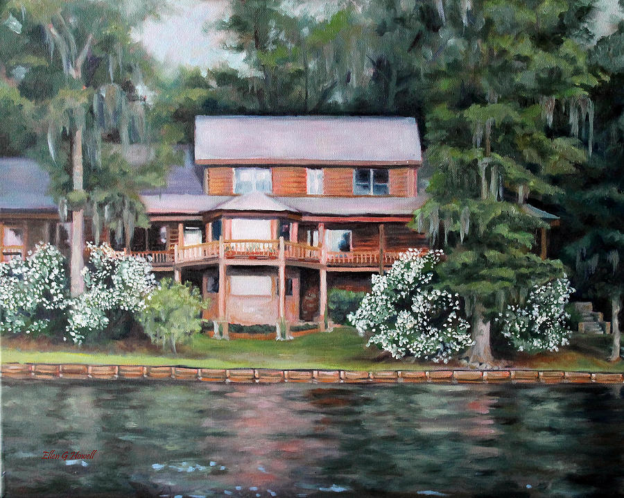 Home Painting - Taylor House by Ellen Howell