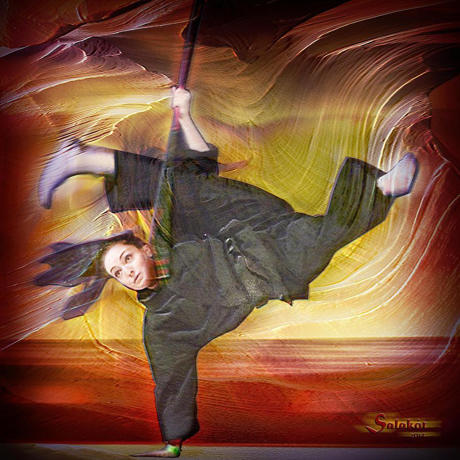 Martial Arts Mixed Media - Taylor Lynch Action Portrait by Salakot