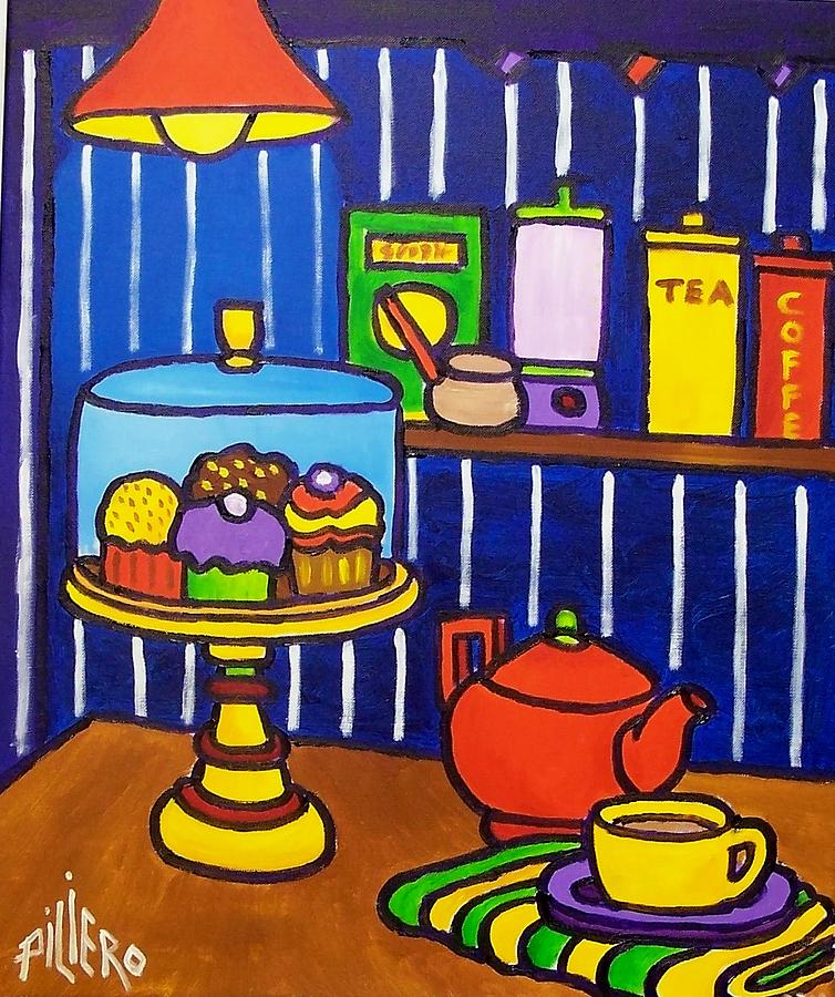 Tea And Cakes Painting by Nick Piliero