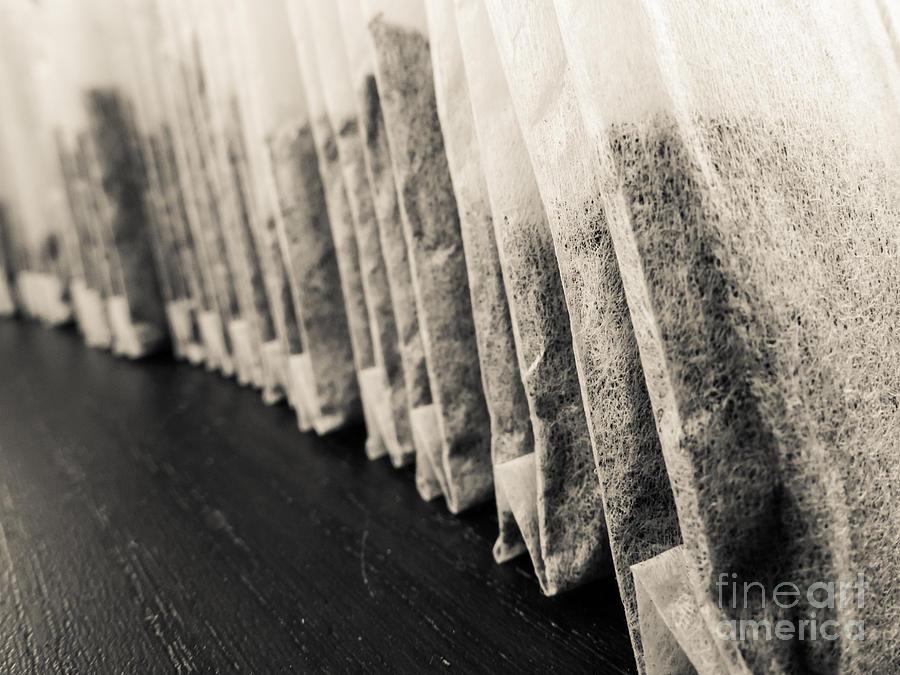 Tea Photograph - Tea Bags Closeup by Edward Fielding