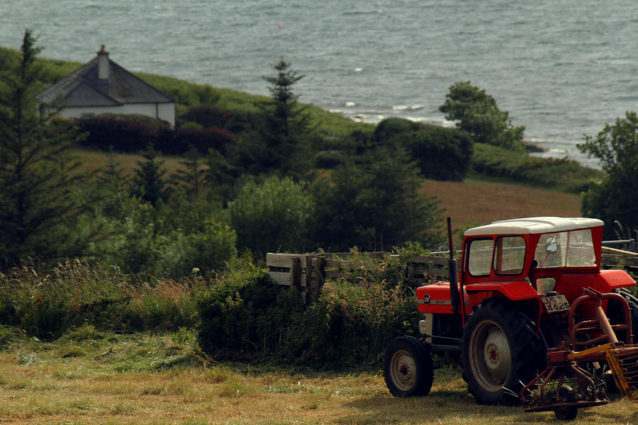 Red Photograph - Tea Break Tractor by Anthony Bean