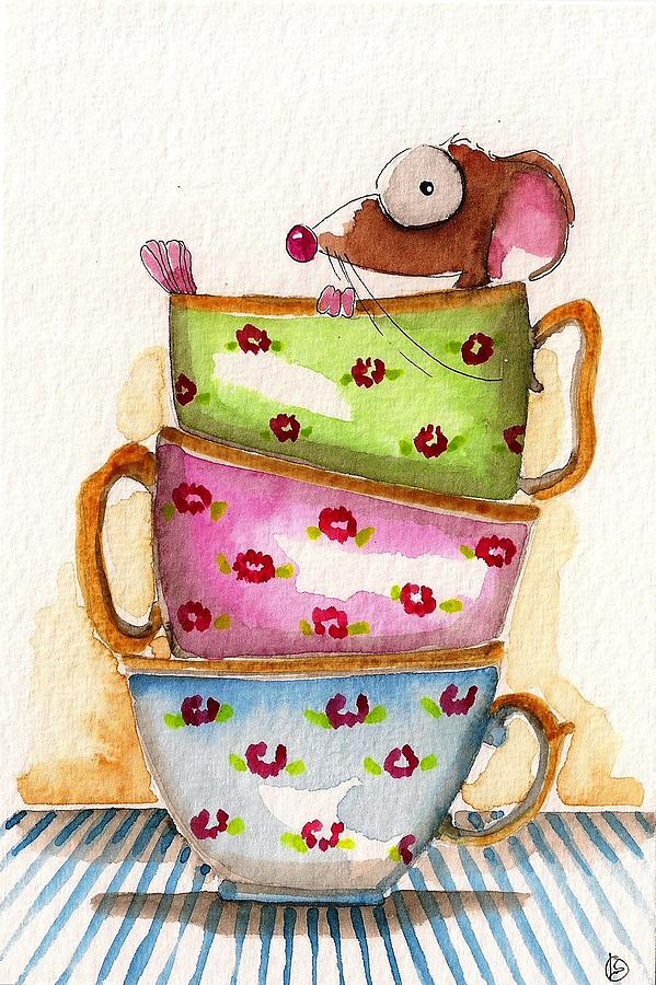 Lucia Stewart Painting - Tea For One by Lucia Stewart