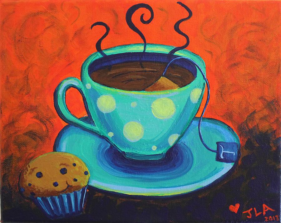 Tea Painting - Tea For Talia by Jennifer Alvarez