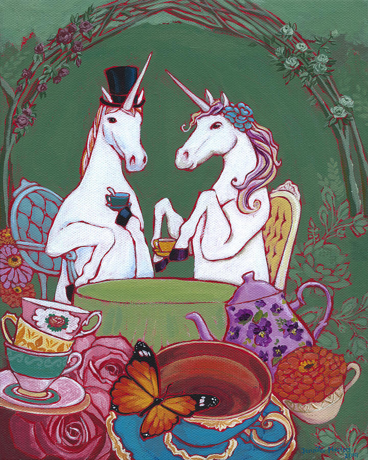 Fantasy Painting - Tea For Two by Jennifer Masters