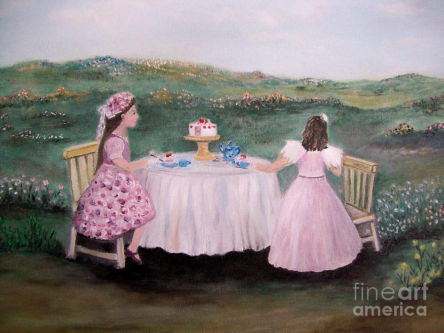 Art Painting - Tea For Two by Rhonda Lee