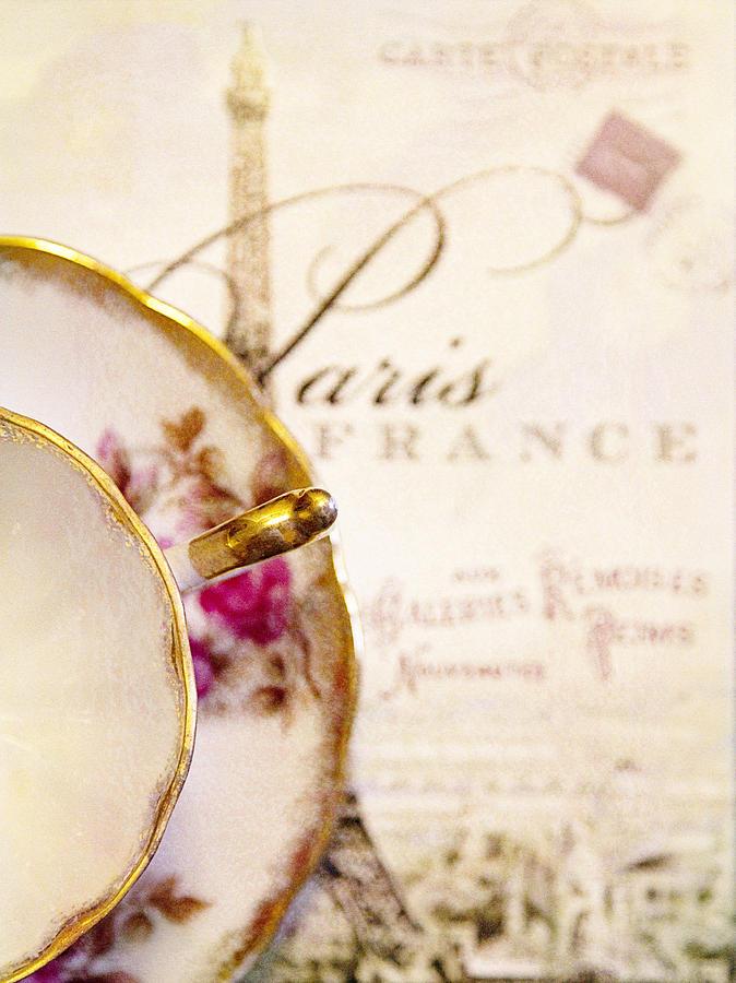 Paris Photograph - Tea In Paris by Rebecca Cozart