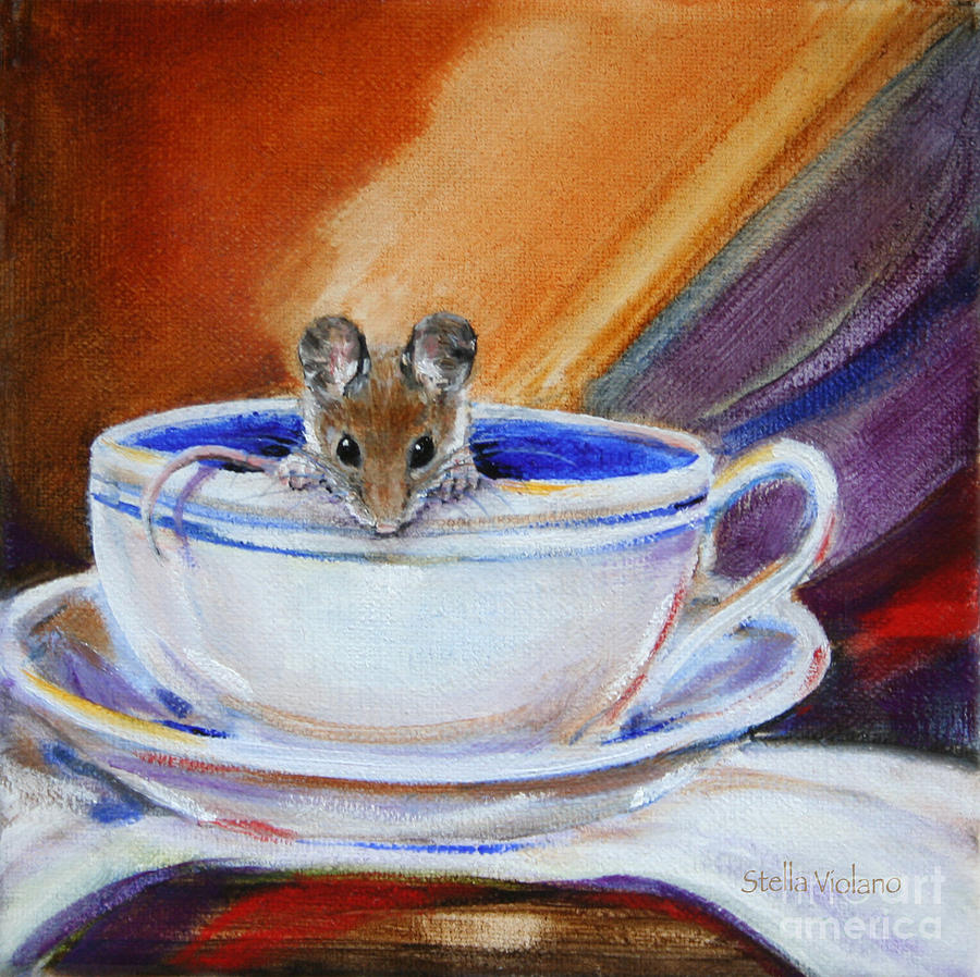 Tea Painting - Tea Mouse by Stella Violano