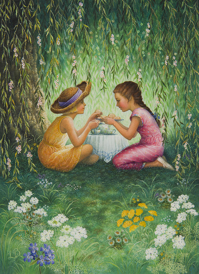 Tea Party Painting - Tea Party by Lynn Bywaters