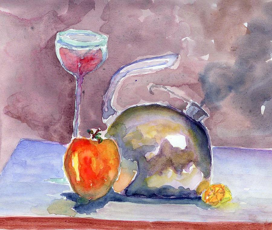 Tea Painting - Tea Pot by Marsden Burnell