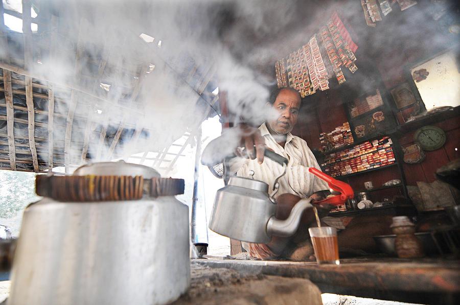 Tea Vendor Photograph - Tea Seller by Money Sharma