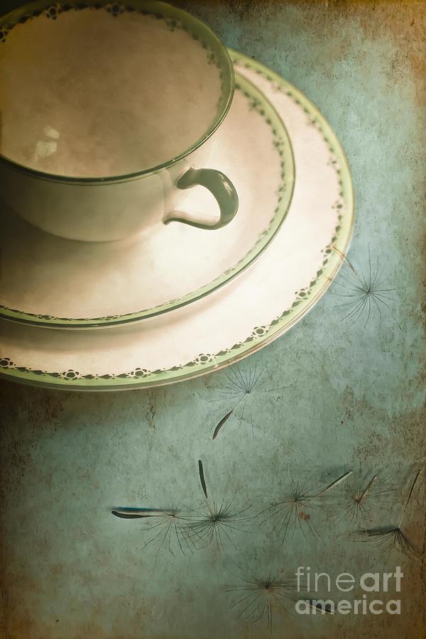 Aged Photograph - Tea Time by Jan Bickerton
