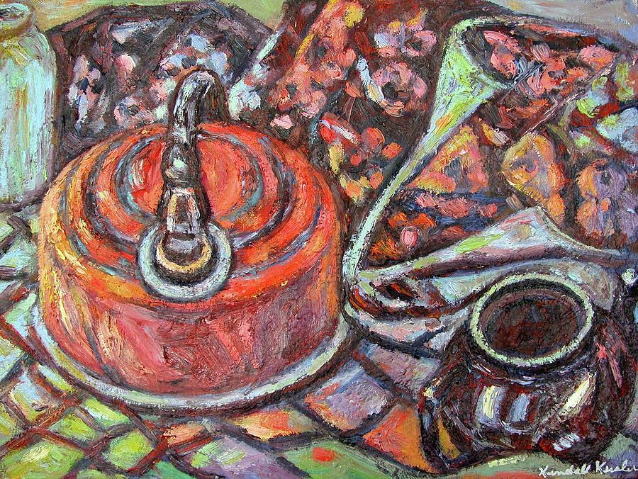 Still Life Painting - Tea Time by Kendall Kessler