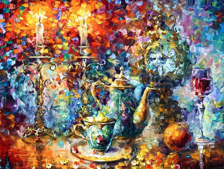 Afremov Painting - Tea Time by Leonid Afremov