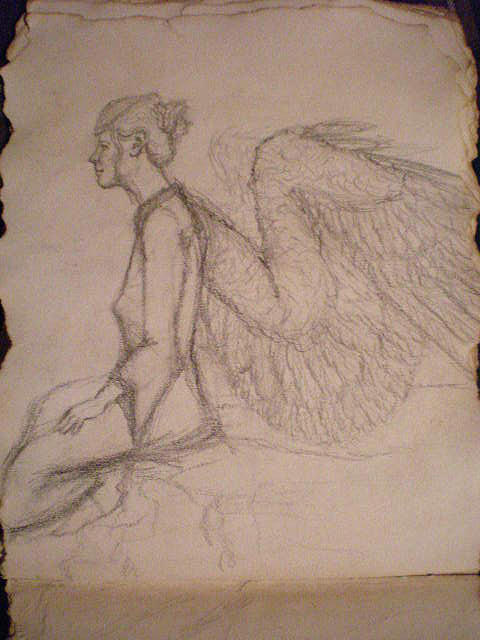 Angel Drawing - Teacher by Steve Spagnola