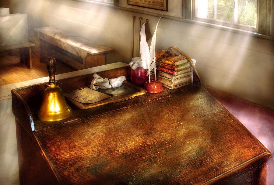 Savad Photograph - Teacher - The School Room by Mike Savad