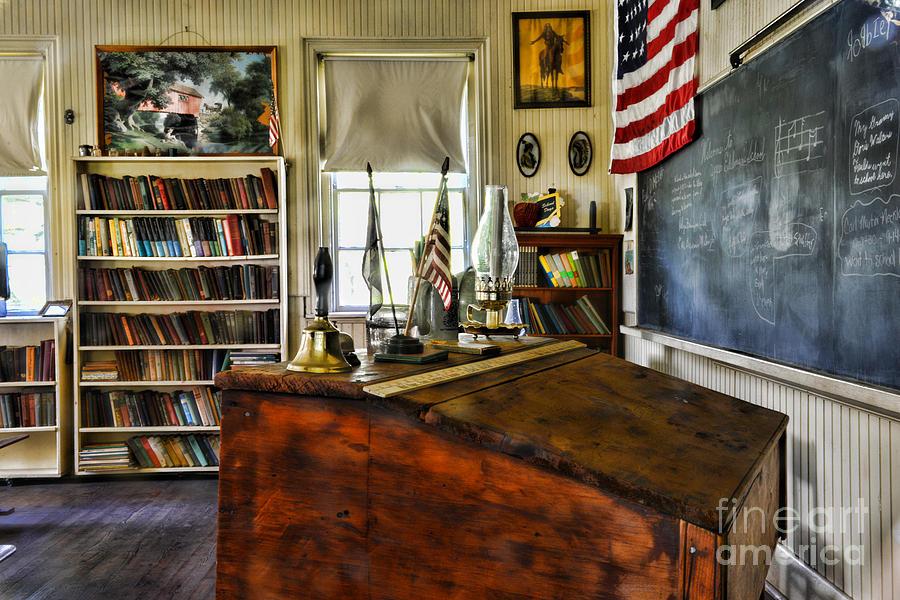 Paul Ward Photograph - Teacher - Vintage Desk by Paul Ward