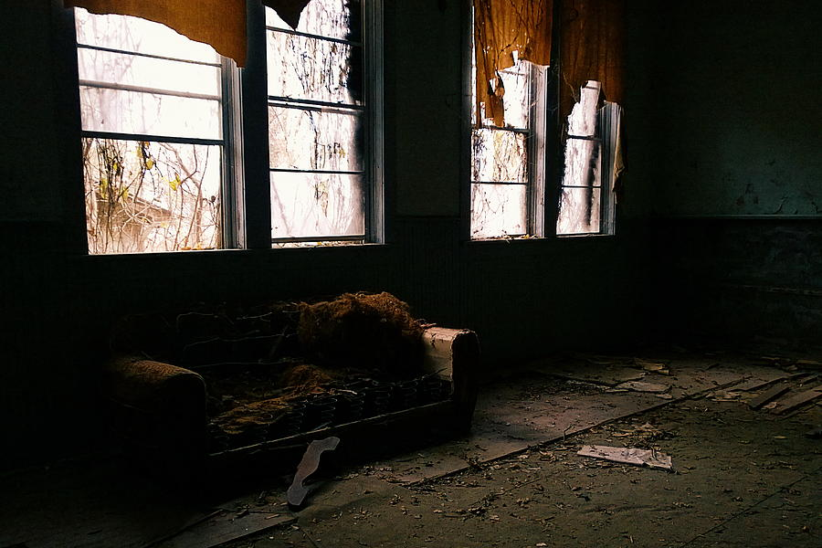 Abandoned Photograph - Teachers Lounge by Tommy Wallace