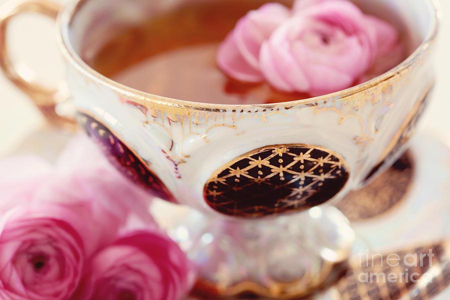 Ranunculus Photograph - Teacupful by Kim Fearheiley