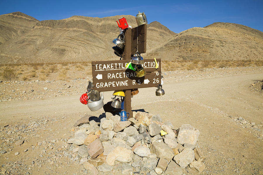Teakettle Junction in Death Valley  Photograph by Yva Momatiuk and John Eastcott