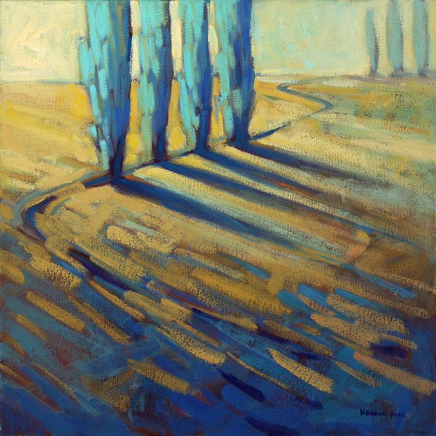 California Painting - Teal by Konnie Kim