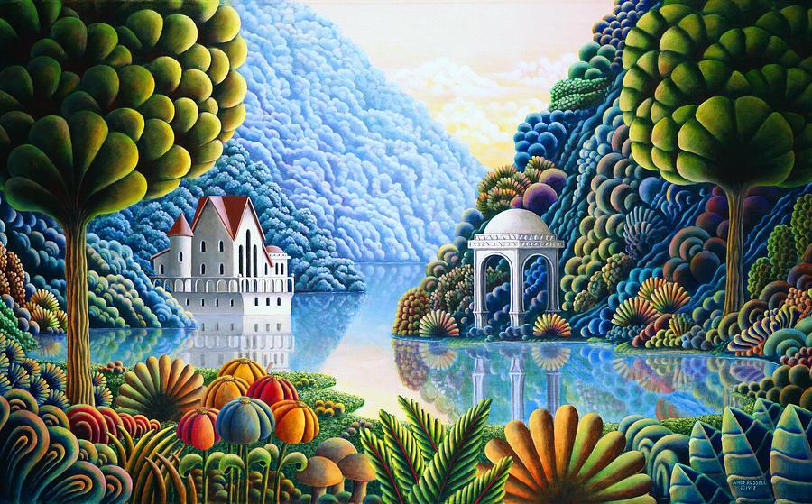 Painting Painting - Teal Lake by MGL Meiklejohn Graphics Licensing