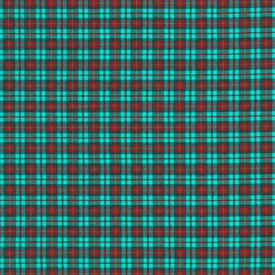 Black and red shower curtains - Teal Red And Black Plaid Fabric Background Photograph By