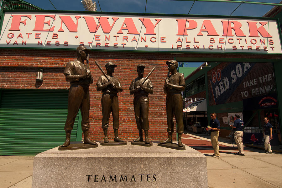 Fenway Park Photograph - Teammates by Paul Mangold