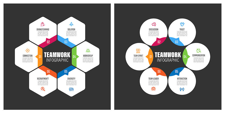 Teamwork Chart With Keywords Drawing by Enis Aksoy