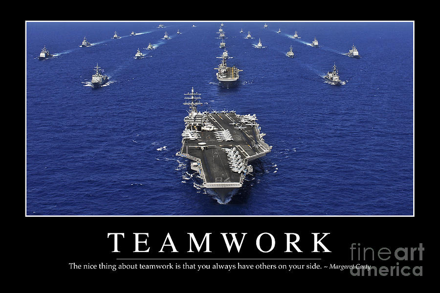 Teamwork Inspirational Quote Photograph By Stocktrek Images