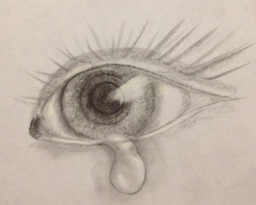 Tear Drawing by Bozena Zajaczkowska