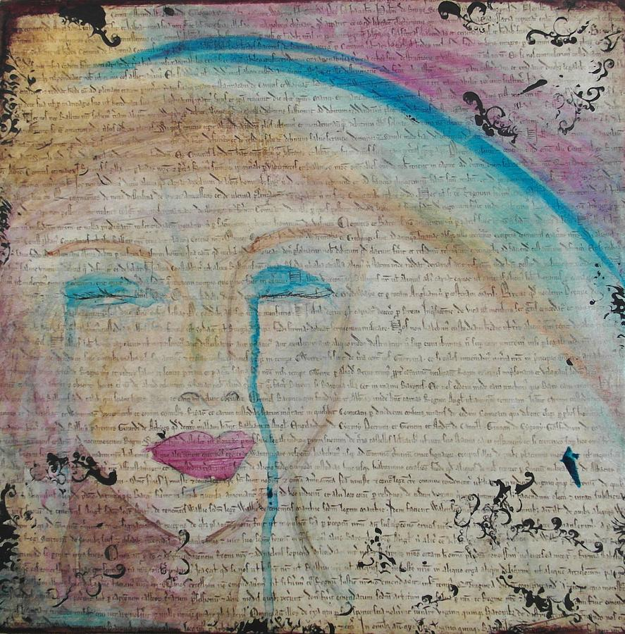 Woman Mixed Media - Tears Of Hope by Debbie Hornsby