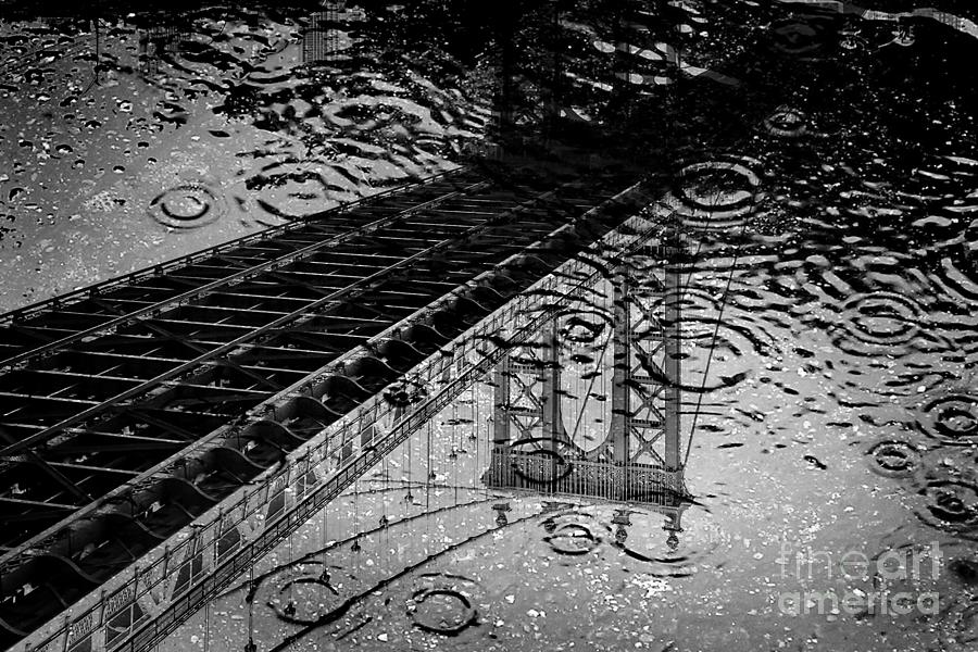 Manhattan Bridge Photograph - Tears Of New York by Az Jackson
