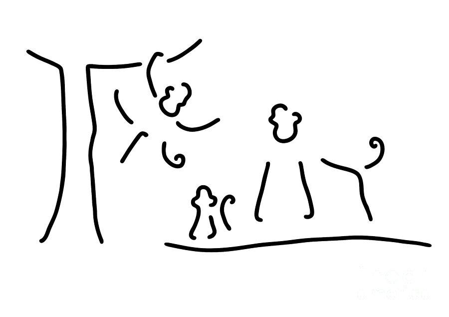 Tease Gorilla Chimpanzee Baby Drawing