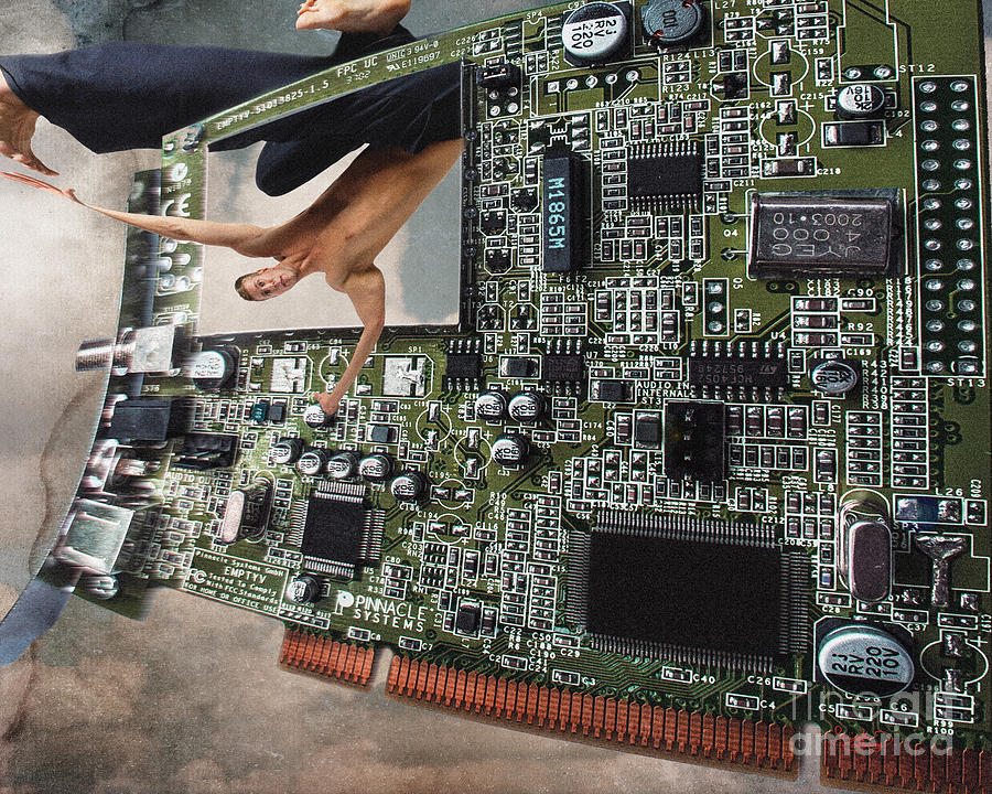Circuit Board Electronic Art Technobat Abstract Photograph