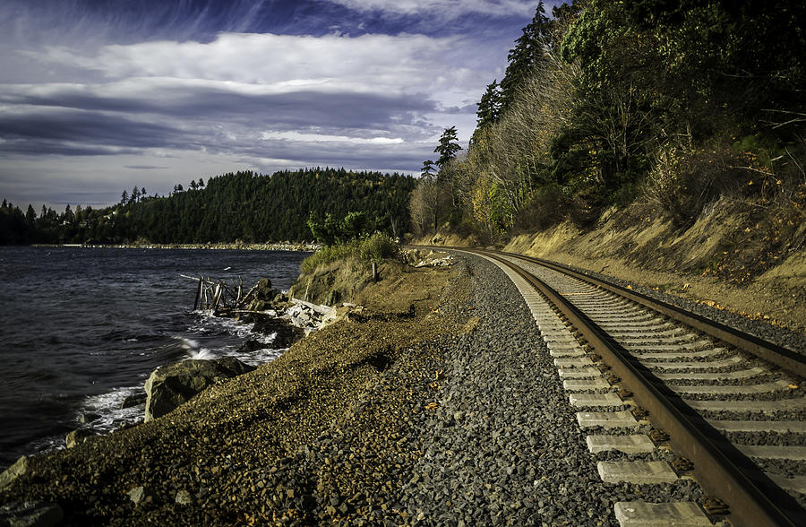 Sunset Photograph - Teddy Bear Cove Railway by Blanca Braun