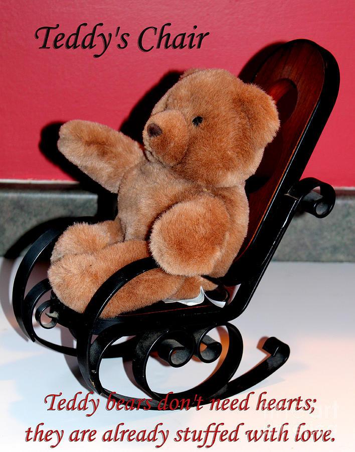 Teddy Bear Photograph - Teddys Chair - Toy - Children by Barbara Griffin