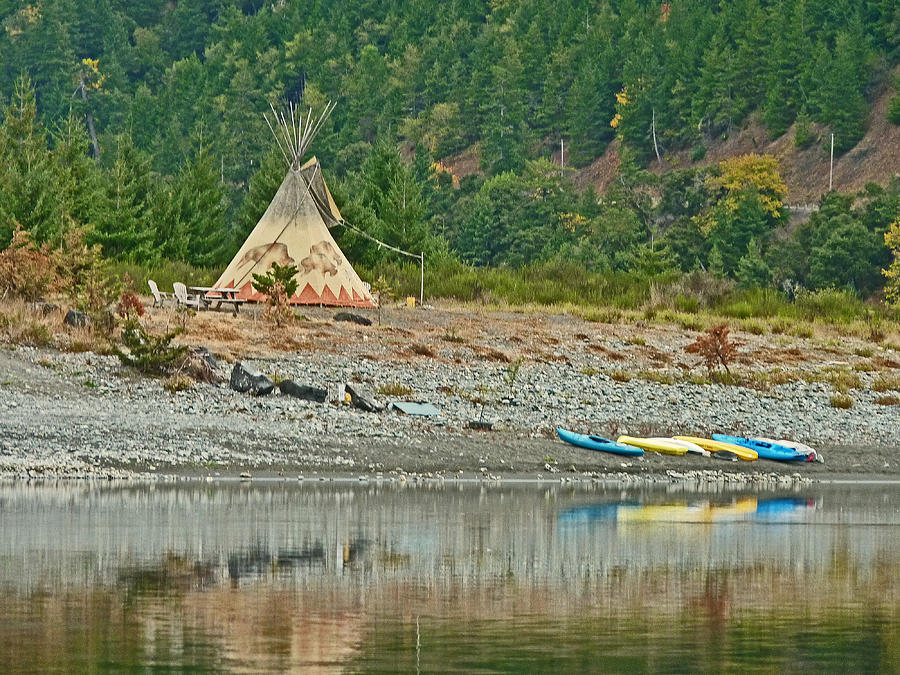 Tee Pee Photograph - Tee Pee At River Bend  by Gracia  Molloy
