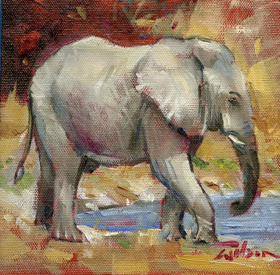Teenage Painting - Teenage Tusker by Ron Wilson