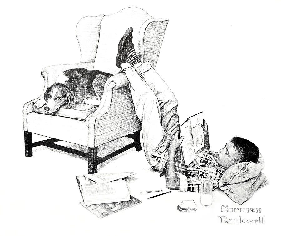 Pencil Photograph - Teenager Studying by Susan Leggett