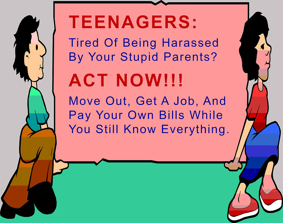 Barbara Snyder Digital Art - Teenagers Act Now by Barbara Snyder